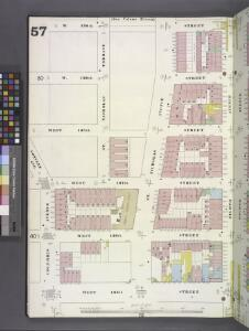 Manhattan, V. 7, Plate No. 57 [Map bounded by W. 130th St., 8th Ave., W. 125th Ave., Columbus Ave.]