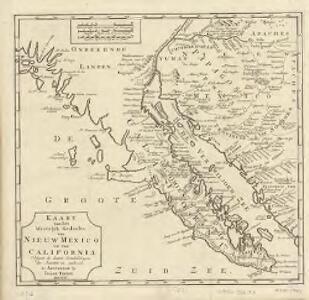 Kaart van het Westelyk Gedeelte van Nieuw Mexico en van California : volgens de laatste ontdekkingen der Jesuiten en anderen