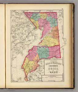 Topographical atlas of Maryland: counties of Cecil and Kent.