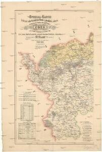 Spezial Karte für Verkehr, landwirthschaftliche, Montan u. gewerbliche Jndustrie des Bezirkes der Handels und gewerbekammer Eger