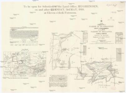 Plan of portions 3 & 4 parish of Blairgowrie Charlotte Plains 1/4 resumption and portion 2 parish of Bellanda Telemon 1/4 resumption, county of Dutton