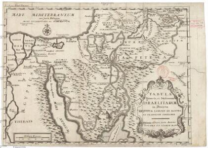 Tabula itineris, et stationum Israelitarum in deserto