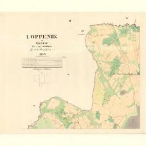 Loppenik - m1606-1-002 - Kaiserpflichtexemplar der Landkarten des stabilen Katasters