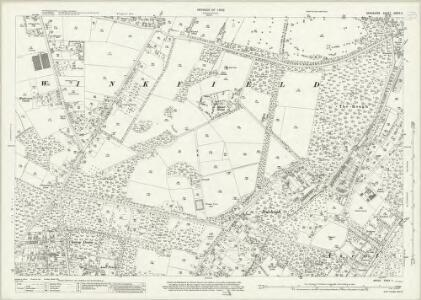 Berkshire XXXIX.11 (includes: Sunninghill; Winkfield) - 25 Inch Map