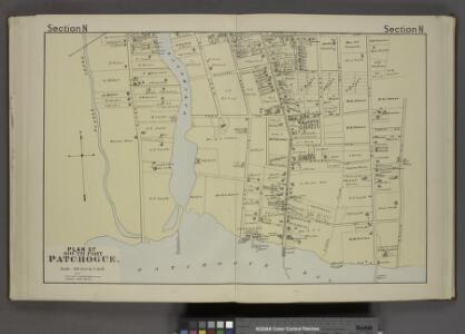 Plan of South Part Patchogue. [Village]