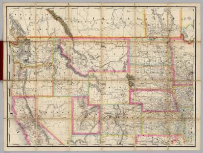 (U.S. Northwest) Railroad Map of the United States.