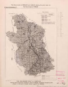 Religion and language maps of Lublin province, Poland no.08