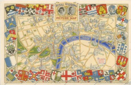 The Royal Wedding picture map of the road