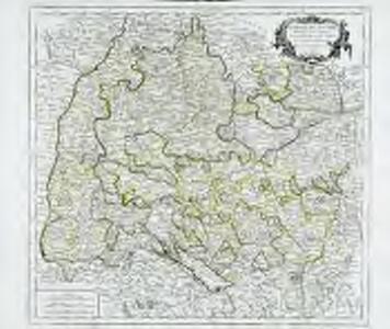Cercle de Souabe, dans lequel sont distingués les principaux etats, et les enclaves de la maison d'Autriche