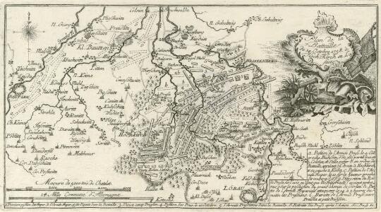 Plan de Battaille du 14. Octobre 1758 à Hoch-Kirch en Lusace