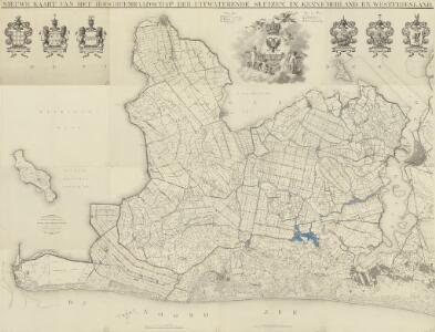 Nieuwe kaart van het Hoogheemraadschap der uitwaterende sluizen in Kennemerland en Westfriesland