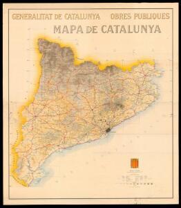 Mapa de Catalunya / formulat per la Direcció d'Obres Públiques