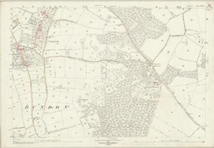 Somerset LXIII.7 (includes: Butleigh; Compton Dundon) - 25 Inch Map