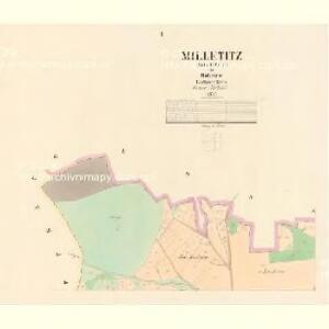 Milletitz (Milletice) - c4652-1-001 - Kaiserpflichtexemplar der Landkarten des stabilen Katasters