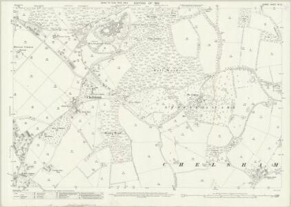 Surrey XX.12 (includes: Chelsham; Warlingham) - 25 Inch Map