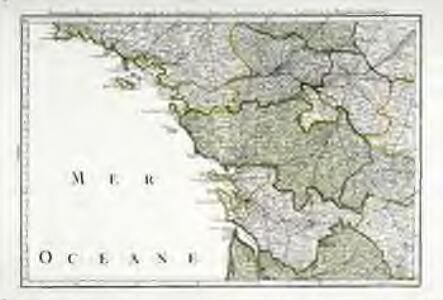 Troisieme feuille contenant une partie de la Bretagne, l'Anjou, la Touraine, le Poitou, la Saintonge, la Marche et le Limosin
