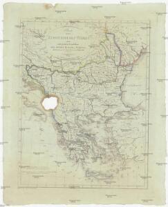 Charte von der europaeischen Türkey mit den anliegenden Republiken der Sieben Inseln u. Ragusa
