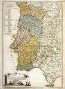 Karte von den Königreichen Portugal und Algarbien