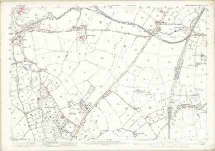 Worcestershire X.14 (includes: Birmingham; Bromsgrove; Cofton Hackett) - 25 Inch Map