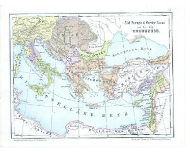 Süd-Europa & Vorder-Asien zur Zeit der Kreuzzüge