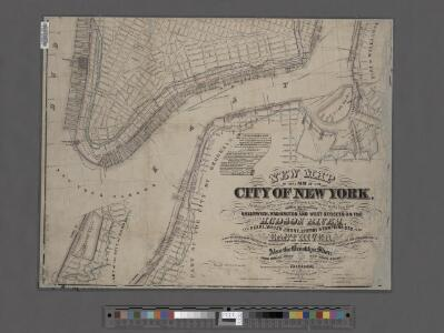 New map of the part of New York City 20th St. on the Hudson and 35th St. on the East River