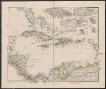 West-Indien, Central-Amerika bis zum südlichen Canada in 4 Blättern