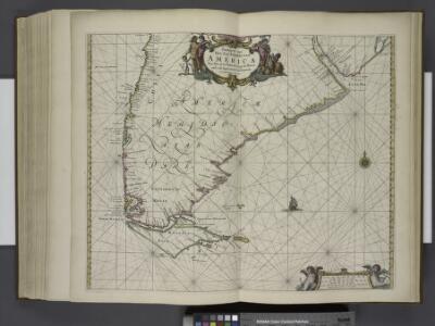 Paskaarte van het zuydelijckste van America, van Rio de la Plata tot Caap de Hoorn, ende inde Zuyd Zee, tot B. de Koquimbo.