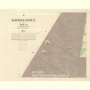 Königlosen - m1337-1-002 - Kaiserpflichtexemplar der Landkarten des stabilen Katasters