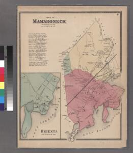 Plate 42: Town of Mamaroneck, Westchester Co. N.Y. - Orienta.