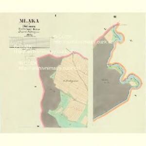 Mlaka - c4751-1-001 - Kaiserpflichtexemplar der Landkarten des stabilen Katasters