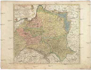 Mappa geographica regnorum Poloniae et Prussiae magnique ducatus Lithuaniae unacum provincia Russia rubra