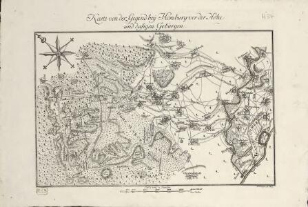 Karte von der Gegend bey Homburg vor der Höhe und dasigen Gebürgen