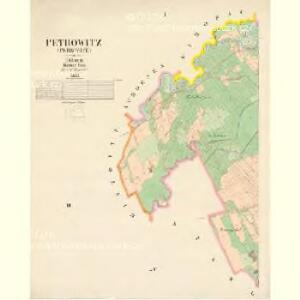 Petrowitz (Petrowice) - c5740-1-001 - Kaiserpflichtexemplar der Landkarten des stabilen Katasters