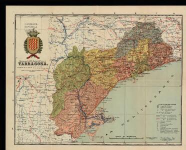 Mapa de la provincia de Tarragona / datos facilitados y revisados por el Instituto Geográfico y Catastral