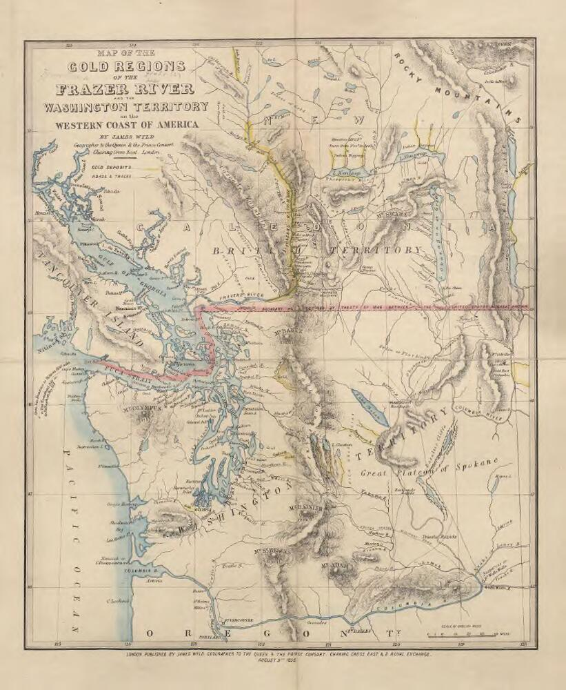 Map of the Gold Regions of the Frazer River and the ...