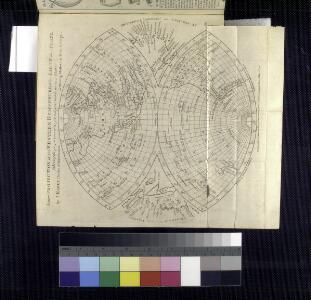 A new projection of the Western Hemisphere of the Earth on a plane: (showing the proportions of its several parts nearly as on a globe) / by J. Hardy (teacher of mathematics & writing master) at Eton College; J. Hardy, invent. et construc.; T. Bowen, delin. et sculpsit.; The Gentleman's magazine.