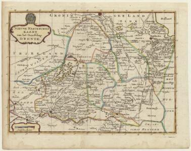 Nieuwe naaukeurige kaart van het graafschap Drente.
