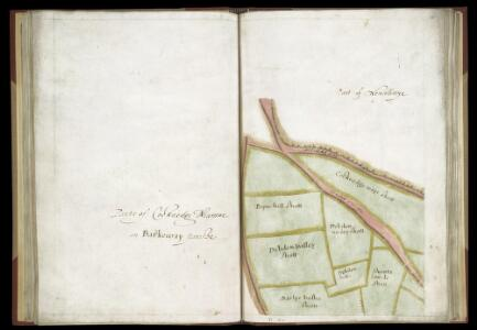 SURVEYS AND PERAMBULATION, WITH PLANS, BY JOHN NORDEN, of the manors of Mincingbury, Abbotsbury and Hoares, in Barley, co. Hertf. made for Sir John Spencer, Lord of the Manors; 1603. f. 35