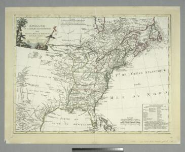 Ètats-Unis de l'Amérique septentrionale avec les Isles Royale, de Terre Neuve, de St. Jean, l'Acadie &c.