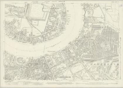 London (1915- Numbered sheets) X.1 (includes: Borough Of Greenwich; Poplar Borough) - 25 Inch Map