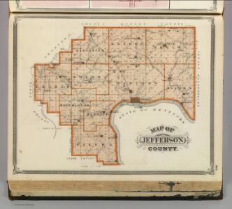 Map of Jefferson County.