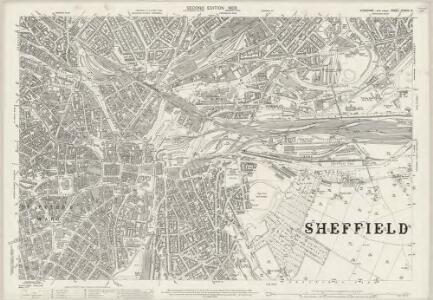 Yorkshire CCXCIV.8 (includes: Sheffield) - 25 Inch Map