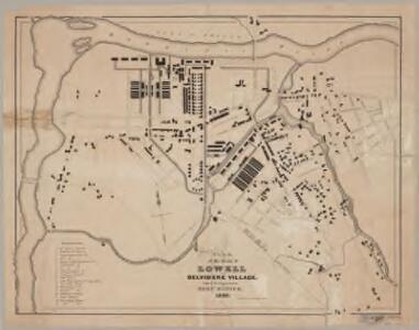 Plan of the town of Lowell and Belvidere Village