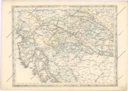 Strassen und Eisenbahnkarte des oesterreichischen Kaiserthumes
