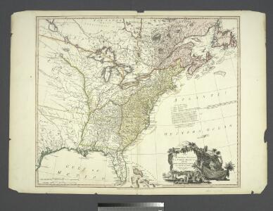 The United States of North America : with the British territories and those of Spain, according to the treaty of 1784 / engrav'd by Wm. Faden.