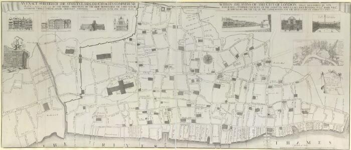 AN EXACT SURVEIGH OF THE STREETS, LANES AND CHURCHES, COMPREHEND.D PLATS, 10 Decem.r A.o Dom.i 1666