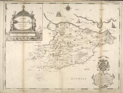 A Map of West Lothian / survey'd by Mr. J. Adair.