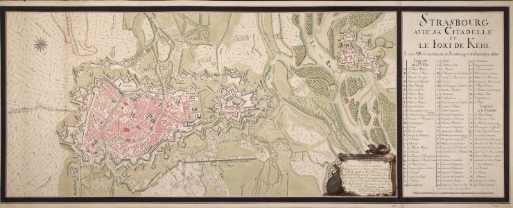 Strasbourg Avec Sa Citadelle Et Le Fort De Kehl