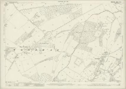 Berkshire XLII.10 (includes: East Woodhay; Hampstead Marshall; Kintbury; West Woodhay) - 25 Inch Map