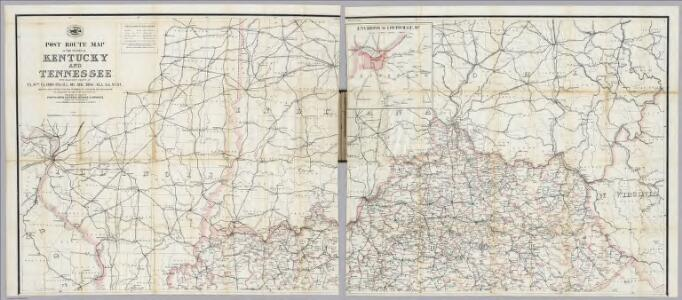 Post Route Map Of  Kentucky And Tennessee